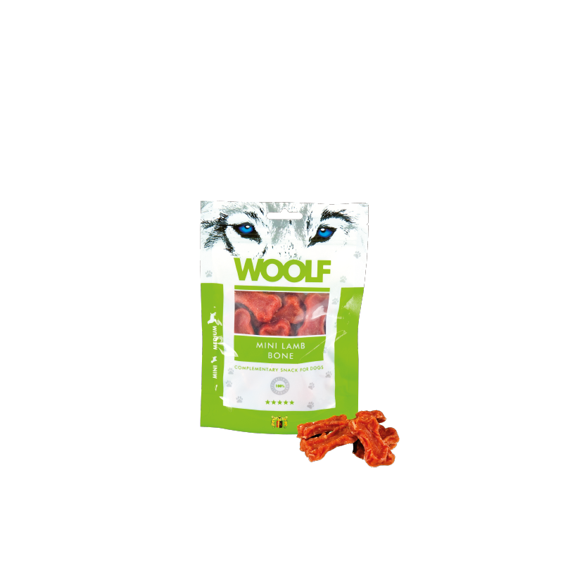 Woolf Osso piccolo all'agnello 100g snack cani