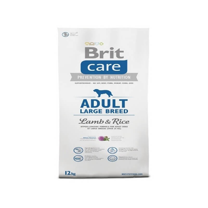 Brit Care Adult Large Lamb & Rice 12Kg crocchette cane