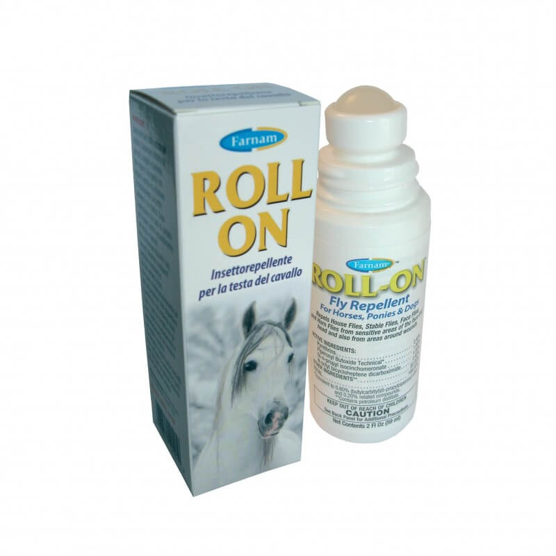 Farnam Roll On 59ml insettorepellente per la testa del cavallo