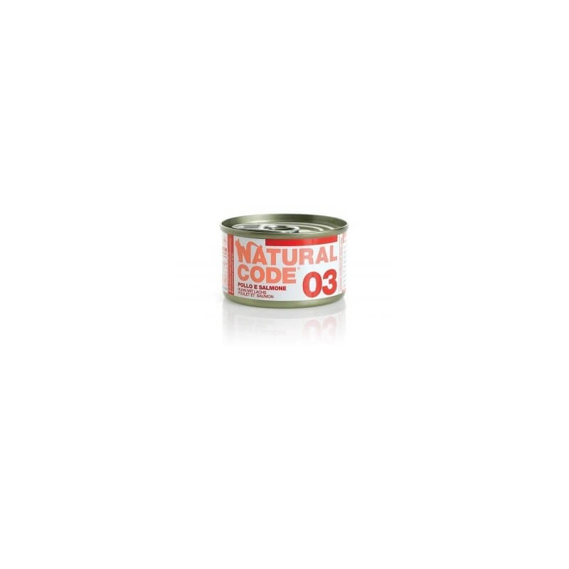 Natural Code 03 Pollo & Salmone 85g umido gatto